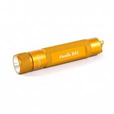 ФОНАРЬ FENIX E01 оранжевый с батарейкой