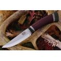 Нож BARK RIVER фиксированный SCANDI MAROON LINEN Mic.Black Paper сталь CPM-3V
