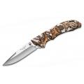 Нож BUCK BANTAM BHW WHITE HEAD HUNTERZ складной, бело-коричневый