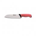 Нож кухонный  JERO Сантоку TR 18см красная рукоять