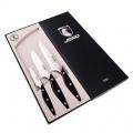 Набор подарочный COIMBRA ножей JERO: Овощной 100мм, Универсал 120мм, Шеф 160мм. Рукоять-красное дерево