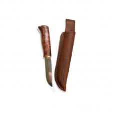 Нож KARESUANDO FOX SPECIAL 3515, сталь Sandvick 12C27, рукоять- карельская береза, кожаный чехол.