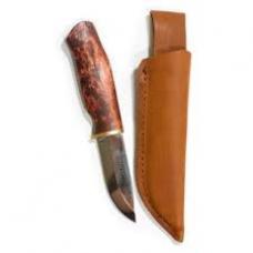 Нож KARESUANDO PIGLET 3504 фиксированный, сталь Sandvick 12C27, рукоять- карельская береза, кожаный чехол.