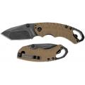 Нож KERSHAW SHUFFLE складной, сталь- 8Cr13MoV K8750TTANBW коричневая рукоять