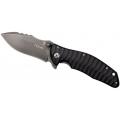 Нож LION STEEL DEFENDER складной, сталь D2,твердость 60HRC,клинок Stone Washed, рукоять титан, накладки G10 (черный) L/DN-2SW-G10
