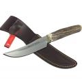 Нож MUELA ГРЕДОС клинок 13см,  рукоять-рог оленя, ножны-кожа U/GRED-13AR