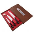 Набор подарочный SATAKE CUTLERY SWORDSMITH из 3 ножей (Овощной 100мм, Универсальный 135мм, Шеф 180мм)