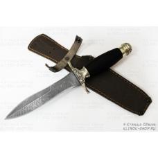 Нож кузнеца Семина АДМИРАЛ сталь-дамаск, литье, черное дерево