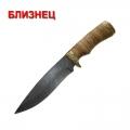 Нож кузнеца Семина БЛИЗНЕЦ сталь-дамаск, литье, береста