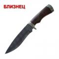 Нож кузнеца Семина БЛИЗНЕЦ сталь- дамаск, литье, орех(кап)
