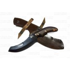 Нож кузнеца Семина КАБАН ст У8(углерод), рукоять из ценных пород дерева