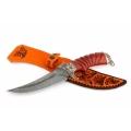 Нож кузнеца Семина КОРСАР сталь-дамаск, литье скорпион, рукоять из ценных пород