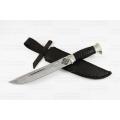 Нож кузнеца Семина КАЗАК кованый, сталь-Х12МФ, литье, кожа, резная рукоять