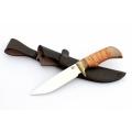 Нож кузнеца Семина ЛАЗУТЧИК сталь-65Х13, береста, литье