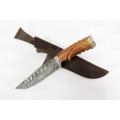 Нож кузнеца Семина ЛЕГИОНЕР сталь-дамаск, литье,резная рукоять из ценных пород