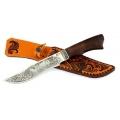 Нож СЕМИНА МУРОМЕЦ кованый, сталь 95Х18, венге, литье, гравировка