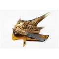 Нож кузнеца Семина МУРОМЕЦ на подставке из кости сталь-дамаск, литье