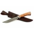 Нож кузнеца Семина ОСЕТР сталь-дамаск, береста, граб, дюраль