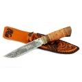 Нож кузнеца Семина ПУТНИК сталь-65Х13, береста, литье, гравировка