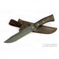 Нож кузнеца Семина СМЕРЧ ст У8(углерод), рукоять из ценных пород дерева