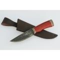 Нож кузнеца Семина СОКОЛ кованый, сталь-9 ХС, литье, кость из ценных пород дерева