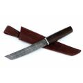 Нож кузнеца Семина ТАНТО сталь-дамаск, венге, дюраль