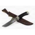 Нож кузнеца Семина ВАРЯГ сталь-дамаск, литье, черное дерево,