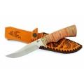 Нож кузнеца Семина ЮНКЕР сталь-65Х13, береста, литье