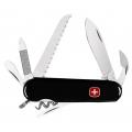 Нож WENGER CLASSIK 13 (черный, скл. 14 функций, 85mm)