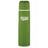 Термос 1000мл 102-1000 пластиковое напыление (цвет зеленый)