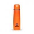 Термос 750мл 102-750 пластиковое напыление (цвет оранжевый)