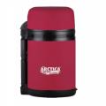 Термос АРКТИКА универсальный 800мл резиновое напыление (цвет красный) 203-800