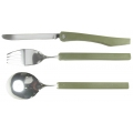 Набор столовых предметов (ложка, вилка, нож), ручки-пластик, чехол